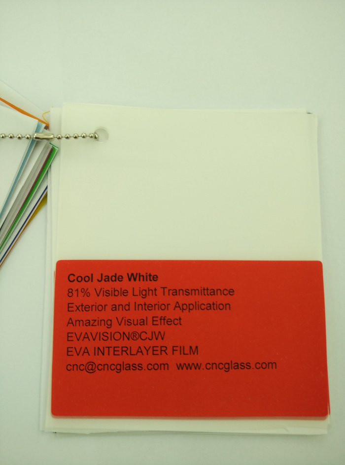 Cool Jade White Ethylene Vinyl Acetate Copolymer EVA interlayer film for laminated glass safety glazing (1)