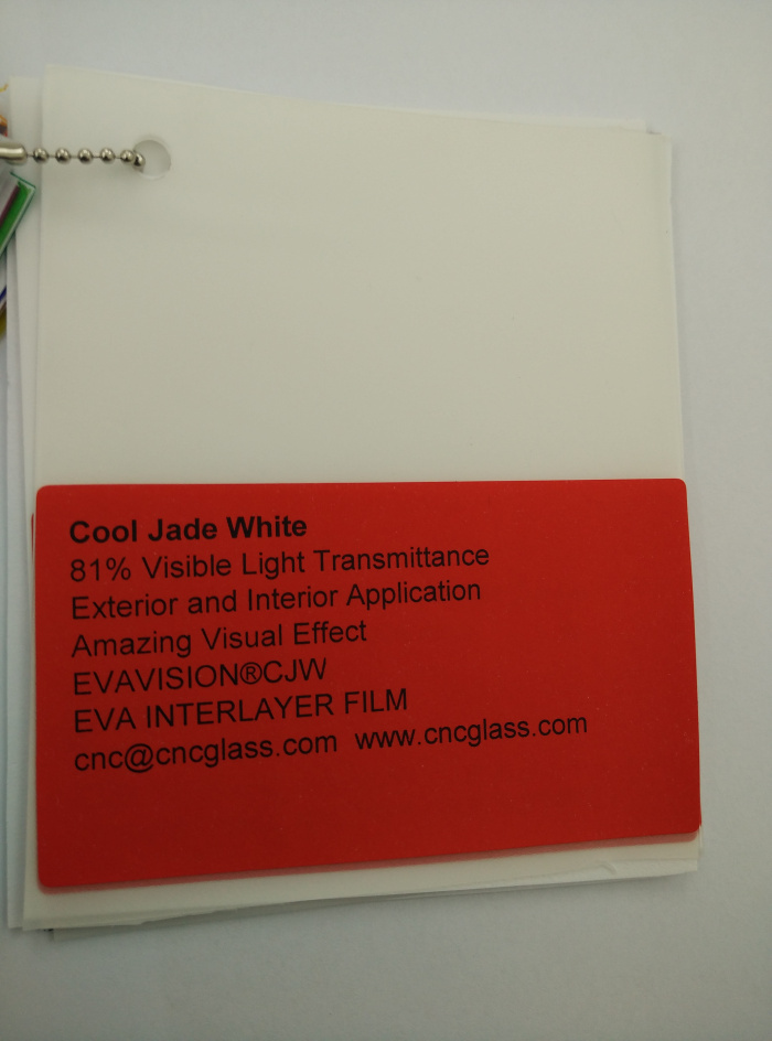 Cool Jade White Ethylene Vinyl Acetate Copolymer EVA interlayer film for laminated glass safety glazing (13)