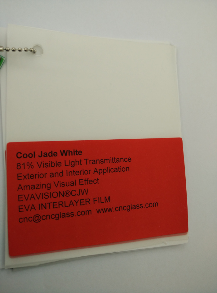 Cool Jade White Ethylene Vinyl Acetate Copolymer EVA interlayer film for laminated glass safety glazing (15)
