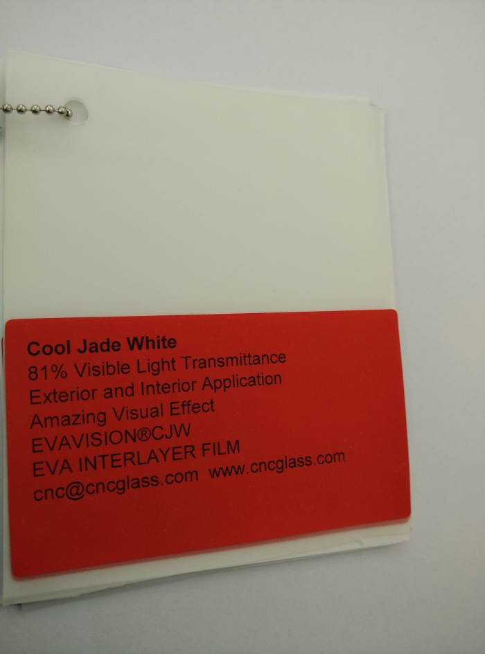 Cool Jade White Ethylene Vinyl Acetate Copolymer EVA interlayer film for laminated glass safety glazing (16)