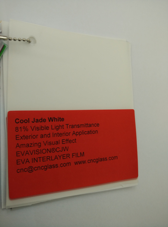 Cool Jade White Ethylene Vinyl Acetate Copolymer EVA interlayer film for laminated glass safety glazing (18)