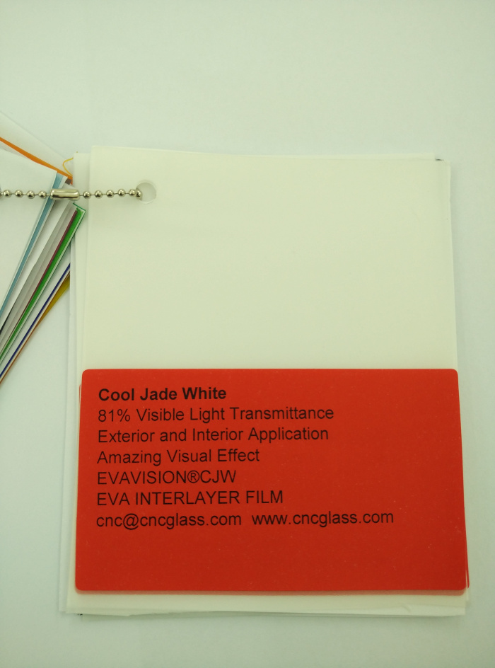 Cool Jade White Ethylene Vinyl Acetate Copolymer EVA interlayer film for laminated glass safety glazing (2)