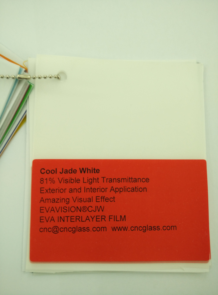 Cool Jade White Ethylene Vinyl Acetate Copolymer EVA interlayer film for laminated glass safety glazing (4)