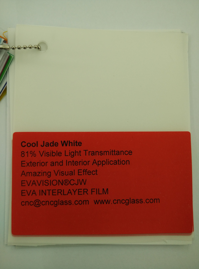 Cool Jade White Ethylene Vinyl Acetate Copolymer EVA interlayer film for laminated glass safety glazing (6)