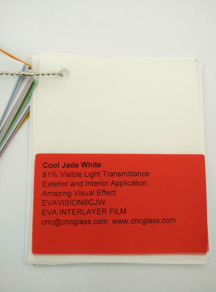 Cool Jade White Ethylene Vinyl Acetate Copolymer EVA interlayer film for laminated glass safety glazing (7)