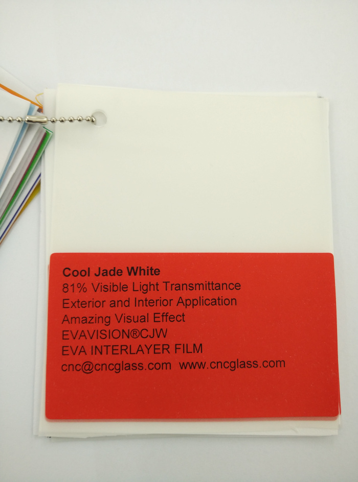 Cool Jade White Ethylene Vinyl Acetate Copolymer EVA interlayer film for laminated glass safety glazing (8)