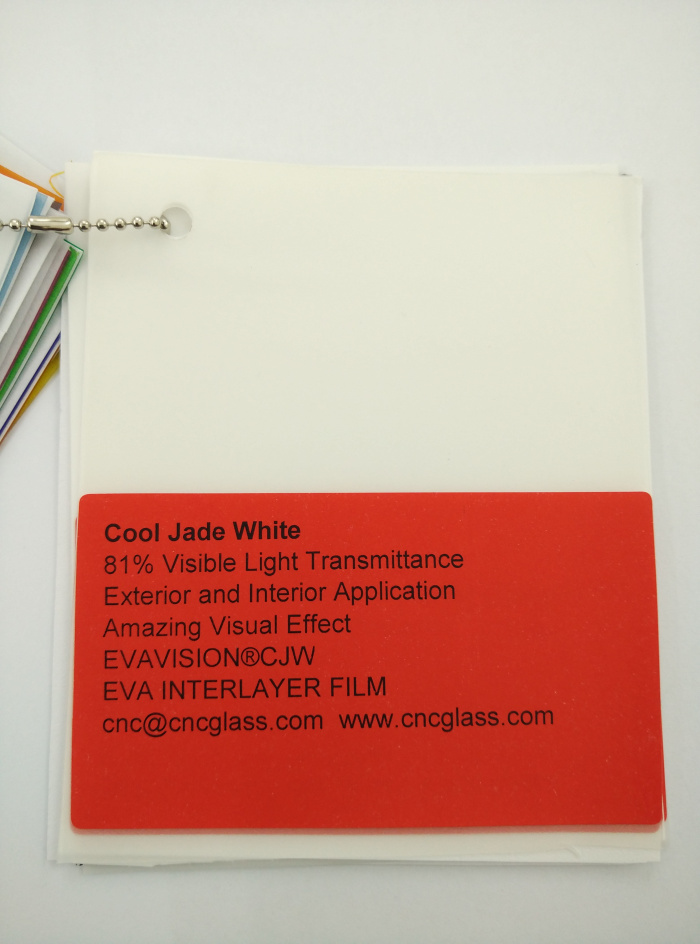 Cool Jade White Ethylene Vinyl Acetate Copolymer EVA interlayer film for laminated glass safety glazing (9)