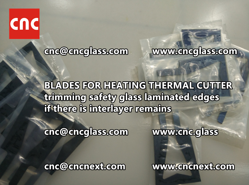 HOT KNIFE BLADES for trimming interlayer remains of laminated glass (1)
