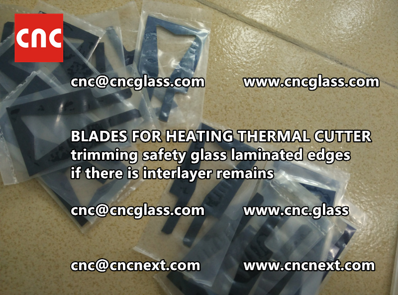 HOT KNIFE BLADES for trimming interlayer remains of laminated glass (2)