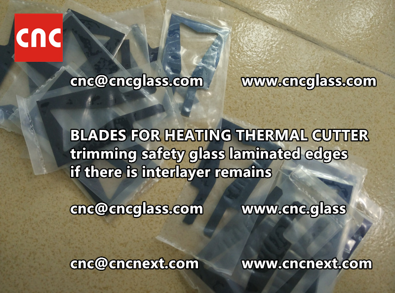 HOT KNIFE BLADES for trimming interlayer remains of laminated glass (3)