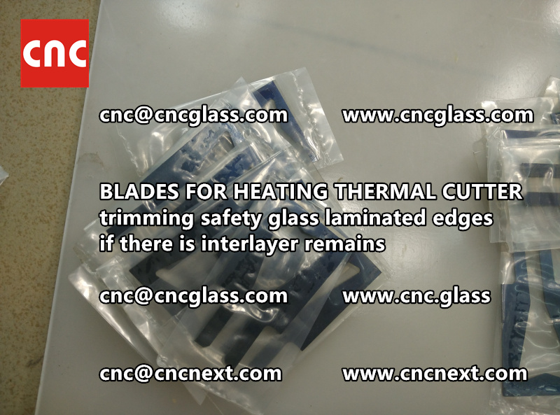 HOT KNIFE BLADES for trimming interlayer remains of laminated glass (4)