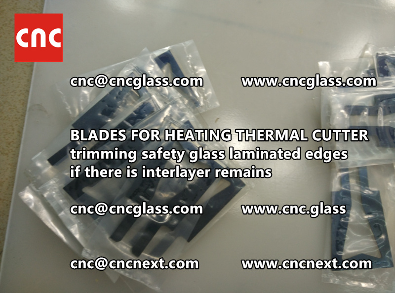 HOT KNIFE BLADES for trimming interlayer remains of laminated glass (5)