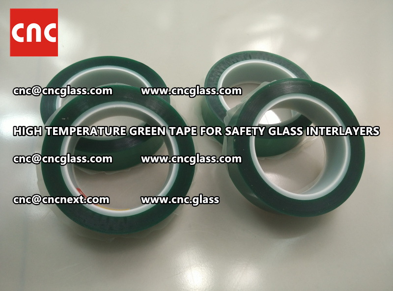 Silicone adhesive GREEN TAPE for safety interlayers films glazing (1)