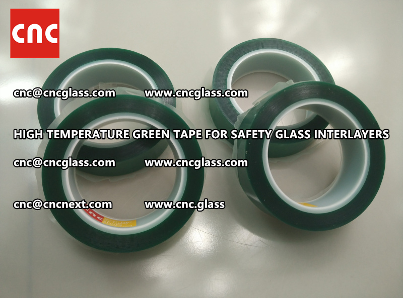 Silicone adhesive GREEN TAPE for safety interlayers films glazing (2)