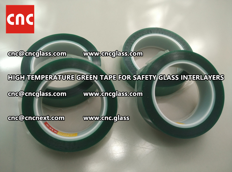 Silicone adhesive GREEN TAPE for safety interlayers films glazing (3)