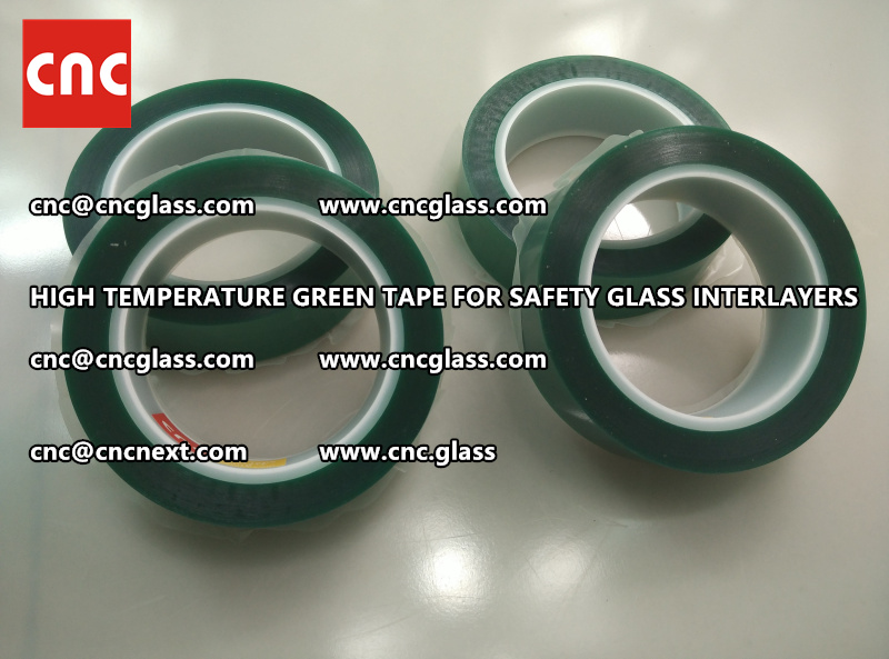 Silicone adhesive GREEN TAPE for safety interlayers films glazing (4)