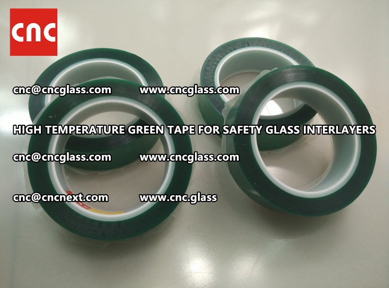 Silicone adhesive GREEN TAPE for safety interlayers films glazing (5)
