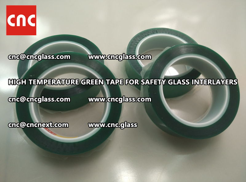 Silicone adhesive GREEN TAPE for safety interlayers films glazing (6)
