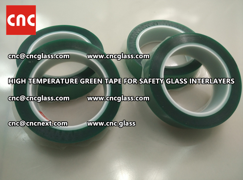 Silicone adhesive GREEN TAPE for safety interlayers films glazing (7)