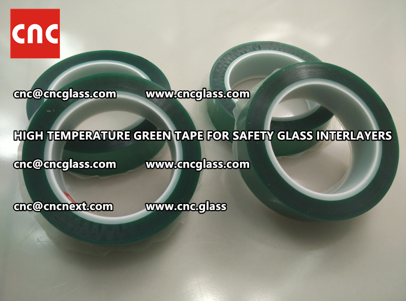Silicone adhesive GREEN TAPE for safety interlayers films glazing (8)