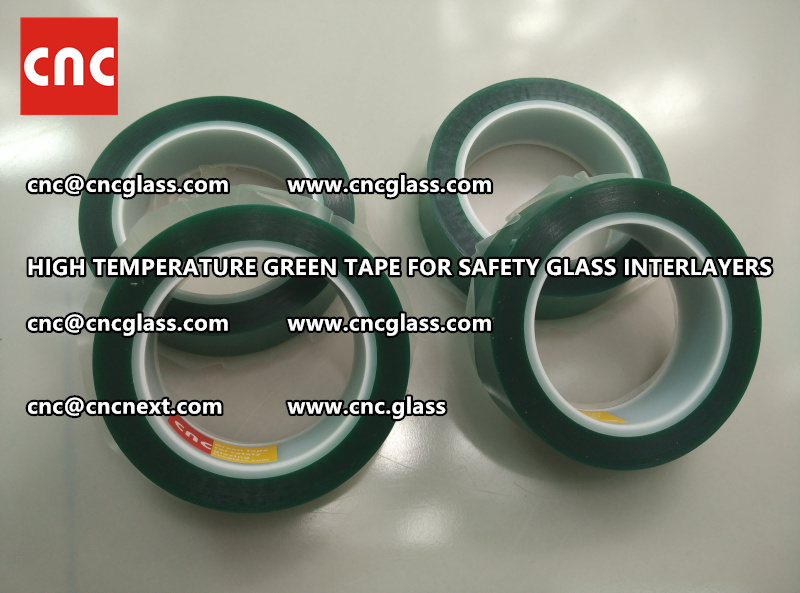 Silicone adhesive GREEN TAPE for safety interlayers films laminating (1)