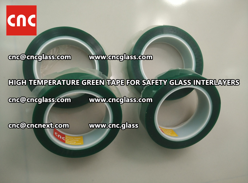 Silicone adhesive GREEN TAPE for safety interlayers films laminating (2)