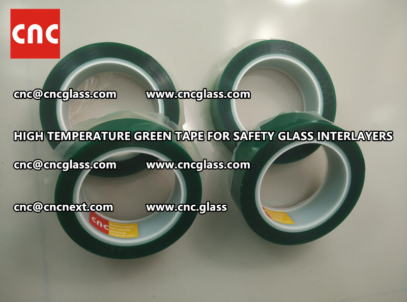 Silicone adhesive GREEN TAPE for safety interlayers films laminating (3)