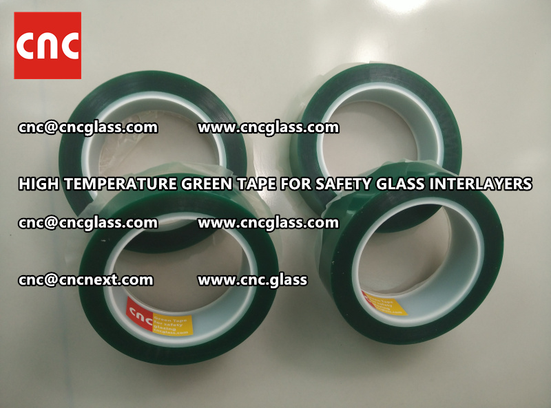 Silicone adhesive GREEN TAPE for safety interlayers films laminating (4)