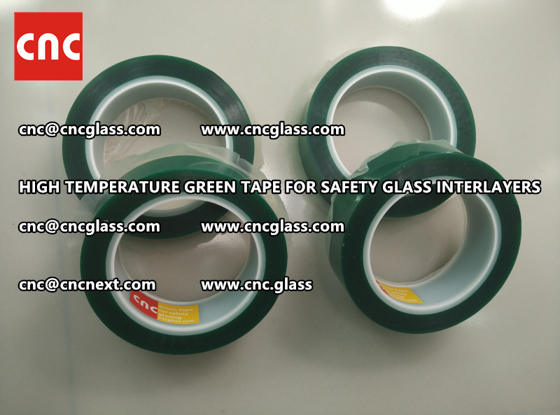 Silicone adhesive GREEN TAPE for safety interlayers films laminating (5)