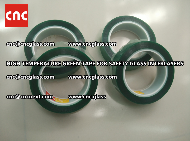Silicone adhesive GREEN TAPE for safety interlayers films laminating (6)