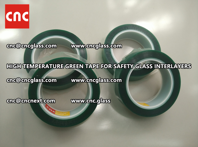 Silicone adhesive GREEN TAPE for safety interlayers films laminating (7)