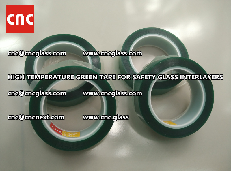 Silicone adhesive GREEN TAPE for safety interlayers films laminating (8)