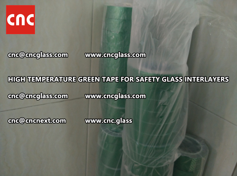 Silicone adhesive GREEN TAPE for safety interlayers films lamination (1)
