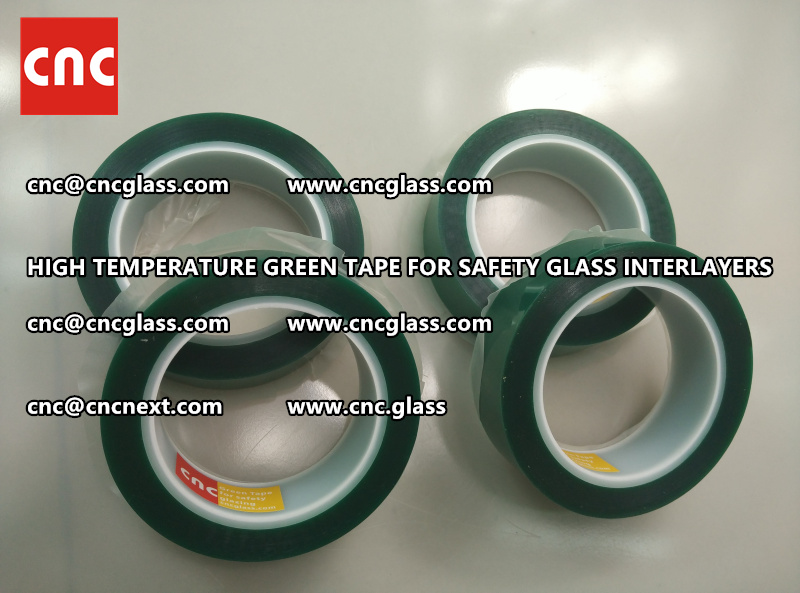 Silicone adhesive GREEN TAPE for safety interlayers films lamination (2)