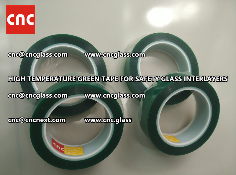 Silicone adhesive GREEN TAPE for safety interlayers films lamination (3)