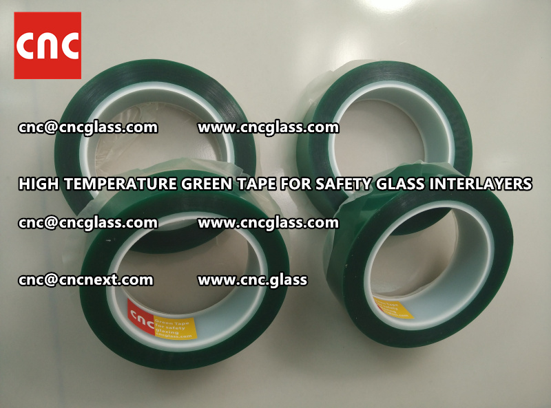 Silicone adhesive GREEN TAPE for safety interlayers films lamination (4)