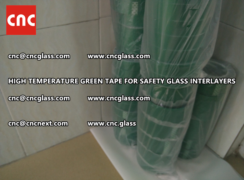 Silicone adhesive GREEN TAPE for safety interlayers films lamination (5)