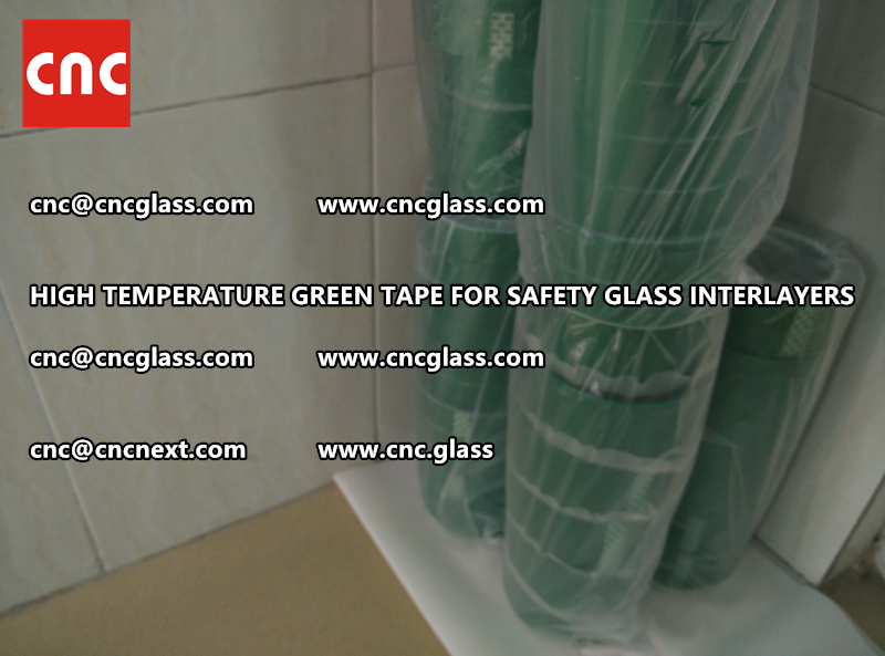 Silicone adhesive GREEN TAPE for safety interlayers films lamination (6)