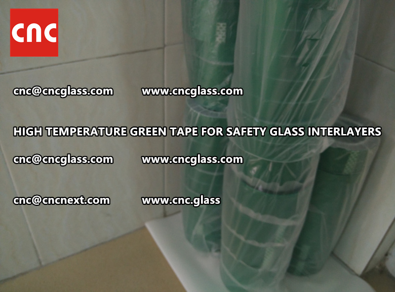 Silicone adhesive GREEN TAPE for safety interlayers films lamination (7)