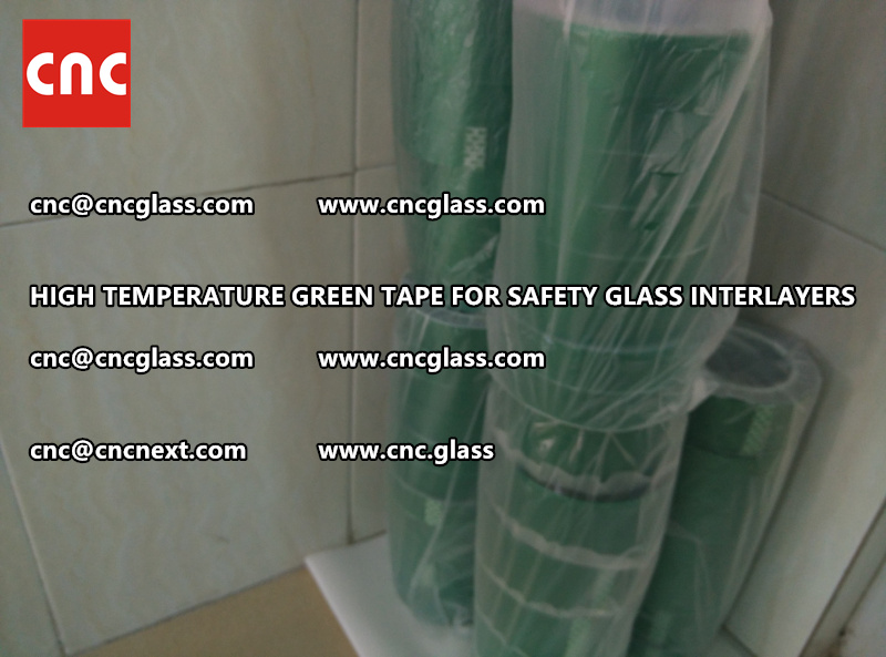 Silicone adhesive GREEN TAPE for safety interlayers films lamination (8)