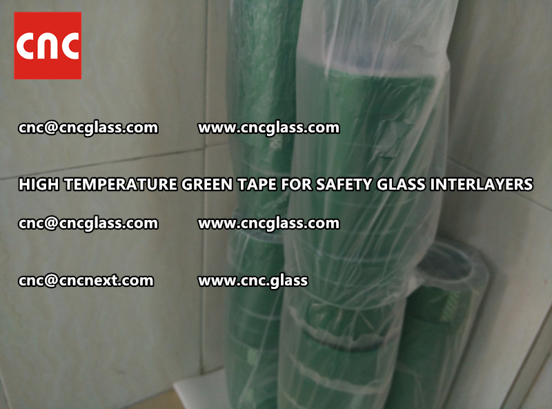 Silicone adhesive GREEN TAPE for safety interlayers films lamination (9)