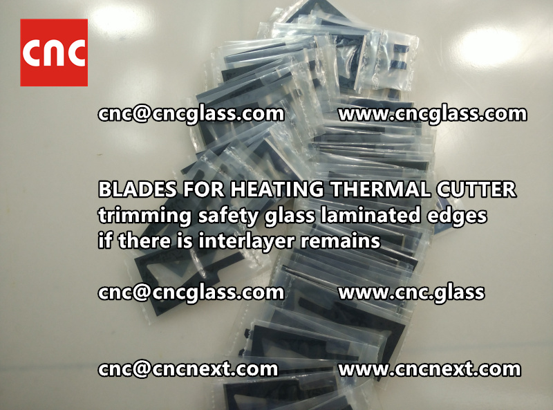 THERMAL CUTTER BLADES for trimming interlayer remains of laminated glass (1)