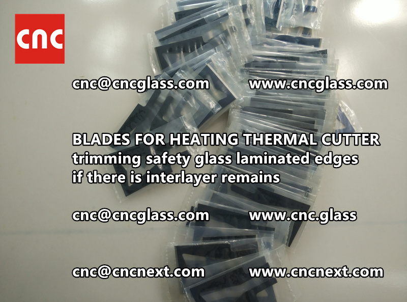 THERMAL CUTTER BLADES for trimming interlayer remains of laminated glass (2)