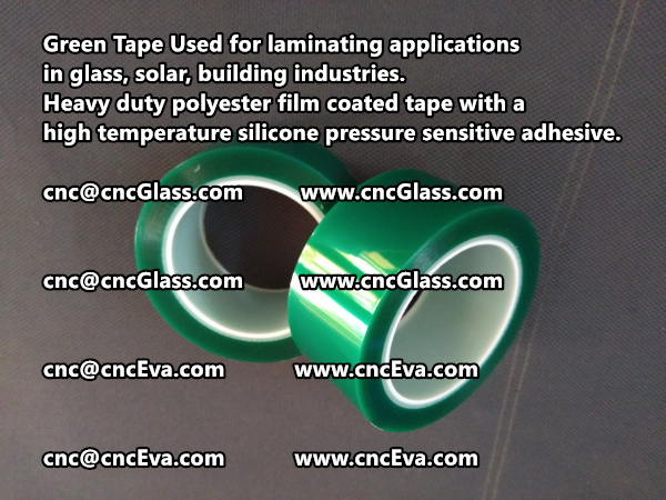Green Tape is designed for laminating applications in glass laminate, solar encapsulation, automotive, aerospace, and electrical Mechanical industries (7)