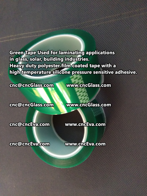 Green tape is made of Heavy duty polyester film coated tape with a high temperature silicone pressure sensitive adhesive (2)