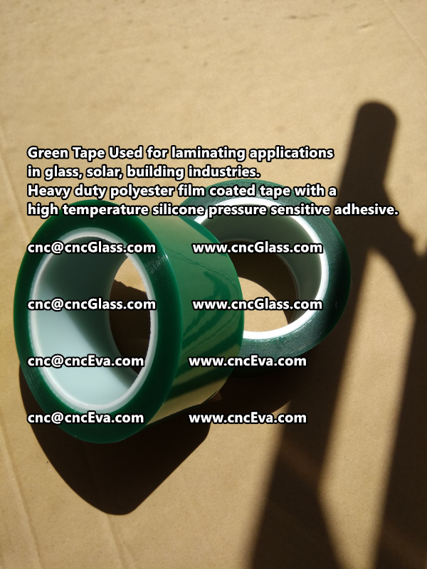 Green tape is made of Heavy duty polyester film coated tape with a high temperature silicone pressure sensitive adhesive (5)